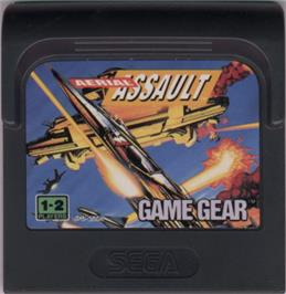 Cartridge artwork for Aerial Assault on the Sega Game Gear.