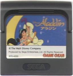 Cartridge artwork for Aladdin on the Sega Game Gear.