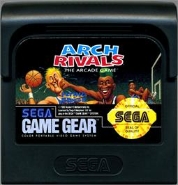Cartridge artwork for Arch Rivals on the Sega Game Gear.