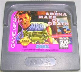 Cartridge artwork for Arena: Maze of Death on the Sega Game Gear.