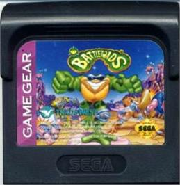 Cartridge artwork for Battle Toads on the Sega Game Gear.