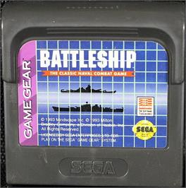 Cartridge artwork for Battleship on the Sega Game Gear.