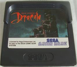 Cartridge artwork for Bram Stoker's Dracula on the Sega Game Gear.
