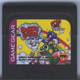 Cartridge artwork for Bubble Bobble on the Sega Game Gear.