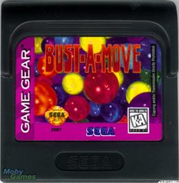 Cartridge artwork for Bust a Move on the Sega Game Gear.