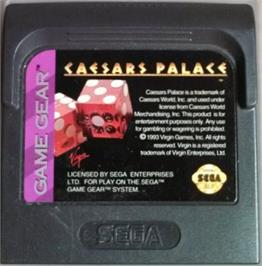 Cartridge artwork for Caesar's Palace on the Sega Game Gear.