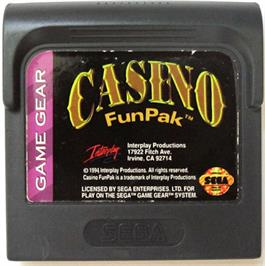 Cartridge artwork for Casino FunPak on the Sega Game Gear.