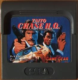 Cartridge artwork for Chase H.Q. on the Sega Game Gear.