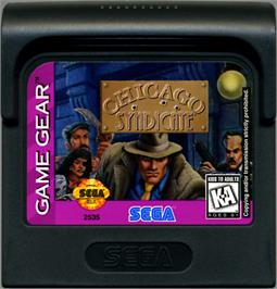Cartridge artwork for Chicago Syndicate on the Sega Game Gear.