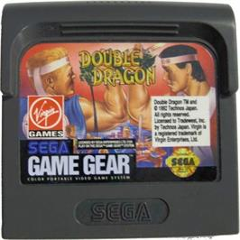 Cartridge artwork for Double Dragon on the Sega Game Gear.