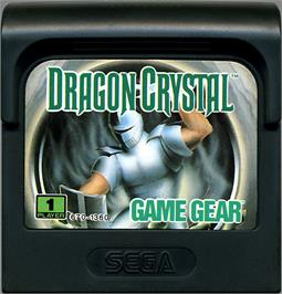 Cartridge artwork for Dragon Crystal on the Sega Game Gear.