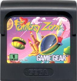 Cartridge artwork for Fantasy Zone on the Sega Game Gear.