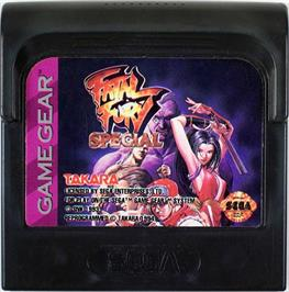 Cartridge artwork for Fatal Fury Special / Garou Densetsu Special on the Sega Game Gear.