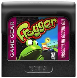 Cartridge artwork for Frogger on the Sega Game Gear.