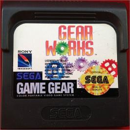 Cartridge artwork for Gear Works on the Sega Game Gear.