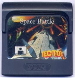 Cartridge artwork for Halley Wars on the Sega Game Gear.