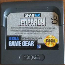 Cartridge artwork for Jeopardy on the Sega Game Gear.