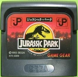 Cartridge artwork for Jurassic Park on the Sega Game Gear.