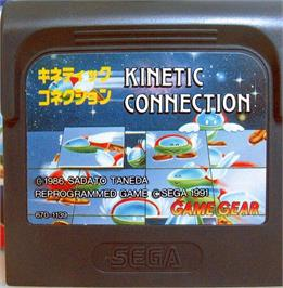 Cartridge artwork for Kinetic Connection on the Sega Game Gear.