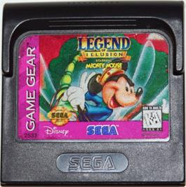 Cartridge artwork for Legend of Illusion starring Mickey Mouse on the Sega Game Gear.
