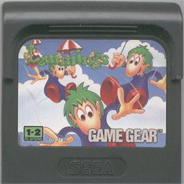 Cartridge artwork for Lemmings on the Sega Game Gear.