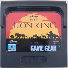 Cartridge artwork for Lion King on the Sega Game Gear.