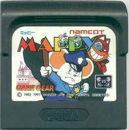 Cartridge artwork for Mappy on the Sega Game Gear.