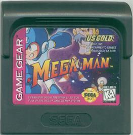 Cartridge artwork for Mega Man on the Sega Game Gear.