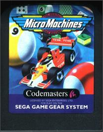Cartridge artwork for Micro Machines on the Sega Game Gear.