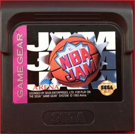 Cartridge artwork for NBA Jam on the Sega Game Gear.