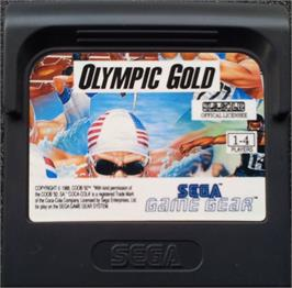 Cartridge artwork for Olympic Gold: Barcelona '92 on the Sega Game Gear.