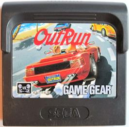Cartridge artwork for Out Run on the Sega Game Gear.