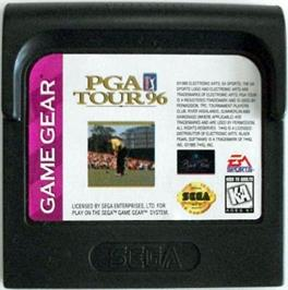 Cartridge artwork for PGA Tour Golf '96 on the Sega Game Gear.