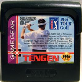 Cartridge artwork for PGA Tour Golf on the Sega Game Gear.