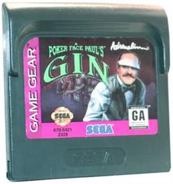 Cartridge artwork for Poker Face Paul's Gin on the Sega Game Gear.
