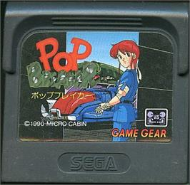 Cartridge artwork for Pop Breaker on the Sega Game Gear.