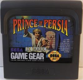 Cartridge artwork for Prince of Persia on the Sega Game Gear.