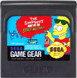 Cartridge artwork for Simpsons: Bart vs. the Space Mutants on the Sega Game Gear.