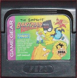 Cartridge artwork for Simpsons: Bartman Meets Radioactive Man on the Sega Game Gear.