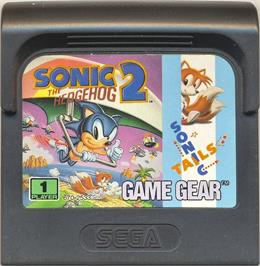 Cartridge artwork for Sonic The Hedgehog 2 on the Sega Game Gear.