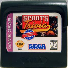 Cartridge artwork for Sports Trivia: Championship Edition on the Sega Game Gear.