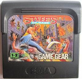 Cartridge artwork for Streets of Rage on the Sega Game Gear.
