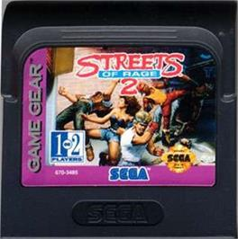 Cartridge artwork for Streets of Rage 2 on the Sega Game Gear.