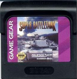 Cartridge artwork for Super Battletank: War in the Gulf on the Sega Game Gear.