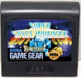 Cartridge artwork for Super Space Invaders on the Sega Game Gear.