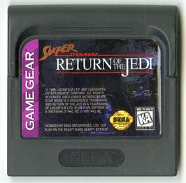 Cartridge artwork for Super Star Wars: Return of the Jedi on the Sega Game Gear.