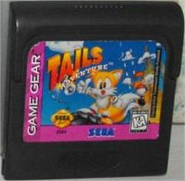 Cartridge artwork for Tails' Adventure on the Sega Game Gear.