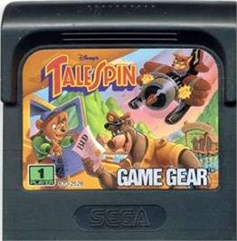 Cartridge artwork for TaleSpin on the Sega Game Gear.