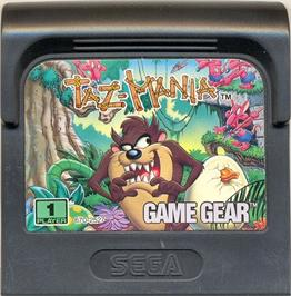 Cartridge artwork for Taz-Mania: The Search for the Lost Seabirds on the Sega Game Gear.