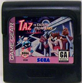 Cartridge artwork for Taz in Escape from Mars on the Sega Game Gear.